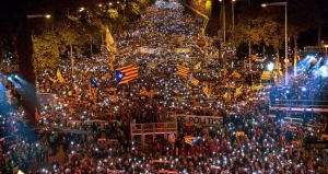 750,000 people flood Barcelona demanding release of Catalan leaders